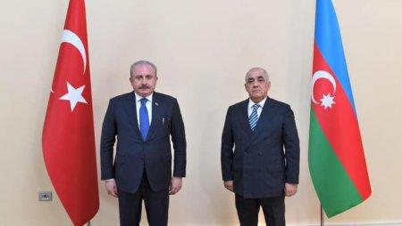 Mustafa Şentop Əli Əsədovla görüşdü - YENİLƏNİB+FOTO
