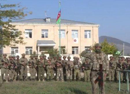 İşğaldan azad edilən Zəngilanda Azərbaycan bayrağı qaldırıldı - VİDEO