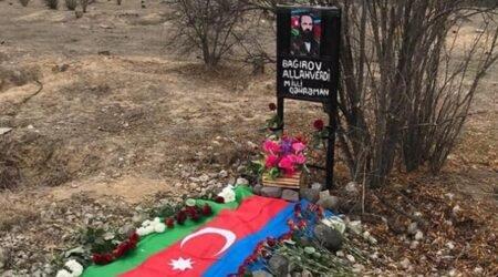 Allahverdi Bağırovun məzarında illər sonra Azərbaycan bayrağı – Fotolar