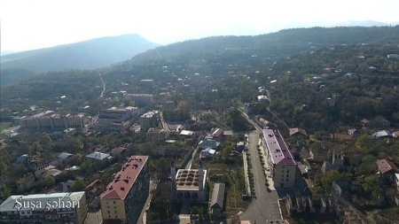 Şuşanın havadan görüntüsü - VİDEO