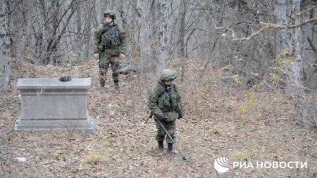 Rusiyalı istehkamçılar Şuşa ətrafını minalardan təmizləyir