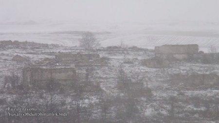İşğaldan azad edilən Yuxarı Əbdürrəhmanlı kəndinin görüntüləri - VİDEO