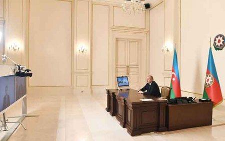 Prezident yeni naziri videoformatda qəbul etdi - Video