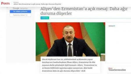 Türkiyə mediası: Prezident İlham Əliyev dörd saatdan artıq zamanda jurnalistlərin suallarını cavablandırıb