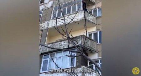 Bakıda intihara cəhdin qarşısı alınıb - VİDEO