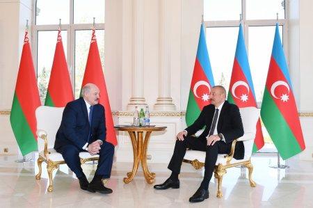 İlham Əliyev Lukaşenko ilə təkbətək görüşdü - Foto