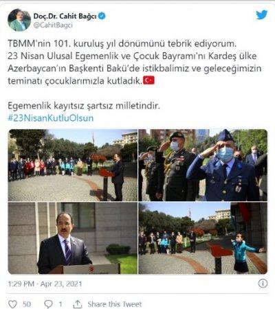 Azərbaycanlı qız Türkiyə səfiri qarşısında İstiqlal Marşını dedi - VİDEO
