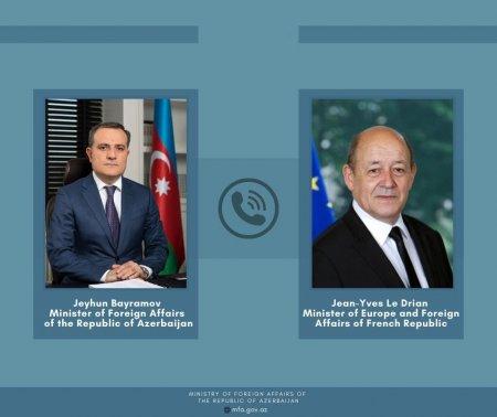 Ceyhun Bayramov Fransa Respublikasının Avropa və xarici işlər naziri ilə telefonla danışdı
