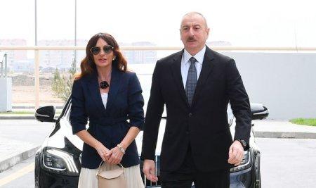 İlham Əliyev və Mehriban Əliyeva Bakıda açılışda - YENİLƏNİB + FOTO