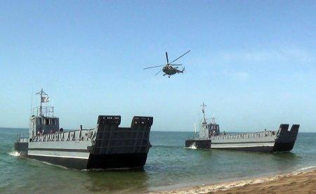 Hərbi Dəniz Qüvvələrinin təlimləri başa çatdı - Video