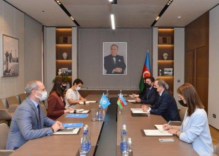 Ceyhun Bayramov Vladanka Andeyevanı qəbul etdi