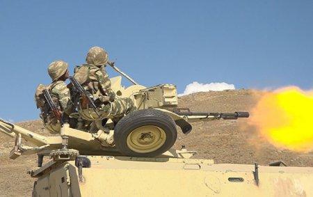 Ordumuzun hava hücumundan müdafiə bölmələrində taktiki-xüsusi təlimlərindən VİDEO