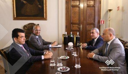 Mədəniyyət naziri Bolonyada İCESCO-nun baş direktoru ilə görüşüb