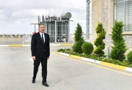 Prezident yarımstansiyanın açılışında - Fotolar