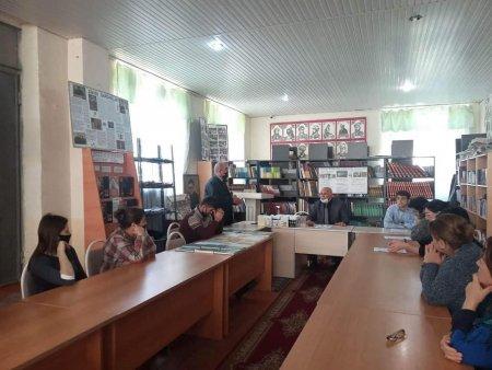 Masallı rayon Mərkəzi Kitabxanasında şair Süleyman Rüstəmin 115 illik yubileyi keçirilib - Fotolar