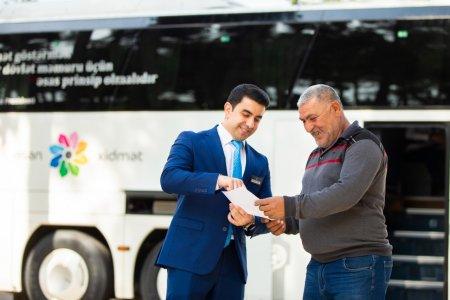 Səyyar ASAN xidmət avtobusu Neftçaladadır