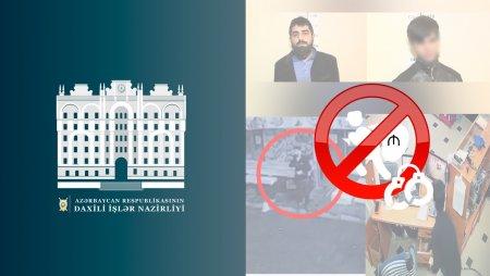 Binəqədi rayonunda mağazalardan oğurluqlar edən şəxslər saxlanılıblar - video