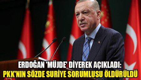 """Türkiyə Prezidenti - """"TSK və MİT əməliyyatları ilə PKK-nın Suriya rəhbəri Sofi Nurəttin öldürüldü"""" - Foto"""