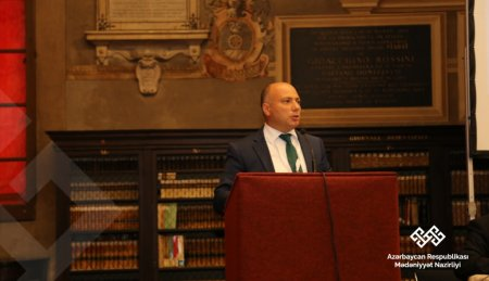Mədəniyyət naziri İtaliyada keçirilən sessiyada çıxış edib - Fotolar